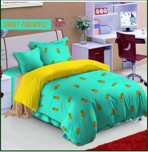 Sprei Star Collection Remaja Sweet Pineapple
