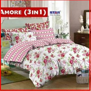 Bed Cover Dan Sprei Star Murah Terbaru online Amore 3 in 1