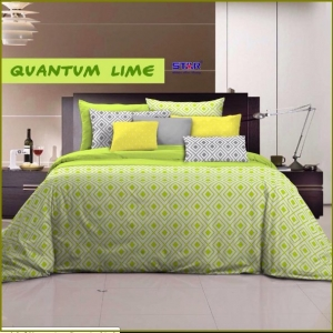 Bed Cover Star Murah Quantum Lime