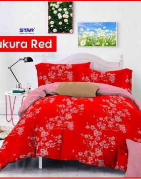 Sprei Star Collection Sakura Red remaja Online