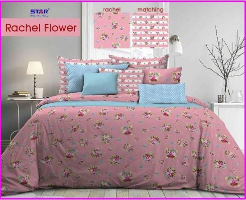 Bed cover Motif Bunga Rachel Flower-1 Terbaru Murah