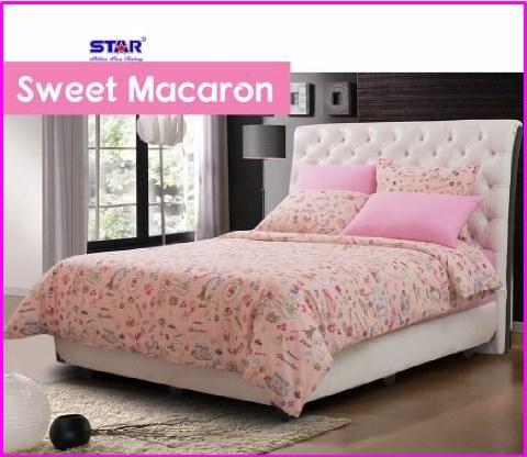 Sprei Bed Cover Star Sweet Macaron-1 Terbaru