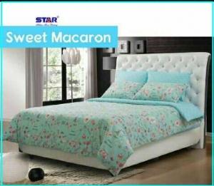 Sprei Bed Cover Star Sweet Macaron Terbaru