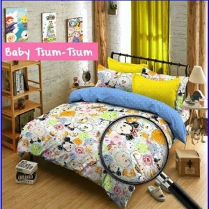 Sprei Star Anak Baby Tsum Tsum Desain Terbaru