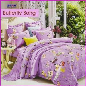 Sprei Star ButterfLy Song Motif Kupu Terbaru