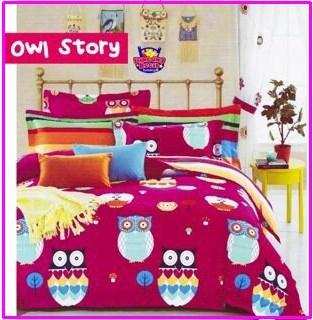 Sprei Star Owl Story Motif Anak Terbaru