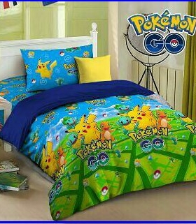 Sprei Star Plus Bed Cover Terbaru Pokemon Go