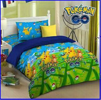 Sprei Star Plus Bed Cover Terbaru Pokemon Go