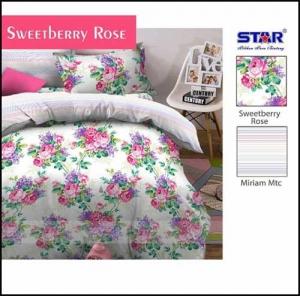 Grosir Sprei Star Murah dan Cantik Sprei Sweetberry Rose