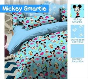 Jual Sprei Bed Cover Motif Mickey Smartie Murah