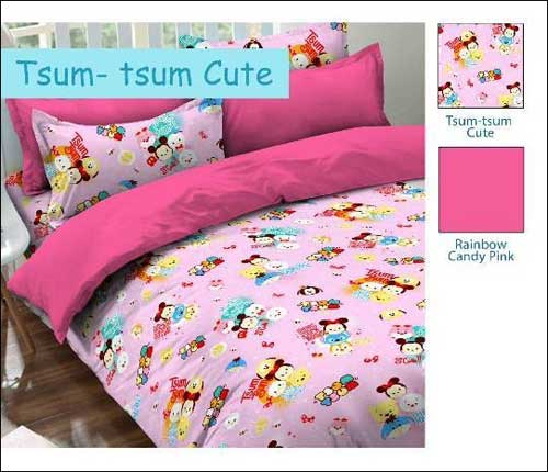 Jual Sprei Murah Anak Motif Tsum Tsum Cute