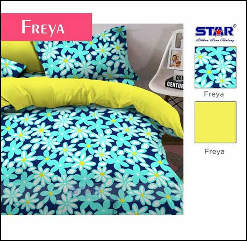 Sprei Star Collection Dewasa Motif Bunga Cantik Freya