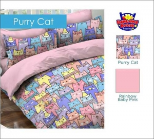 Sprei Star Collection Motif Purry Cat