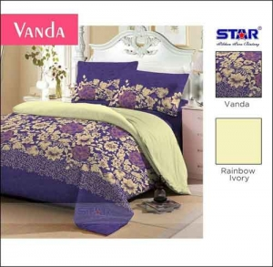 Grosir Sprei Murah Cantik Merk Star motif Vanda