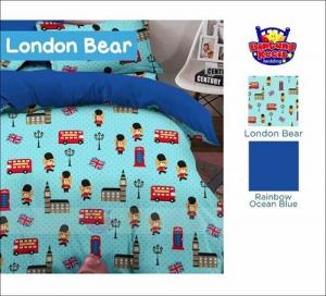 Jual Sprei Murah London Bear Motif Anak