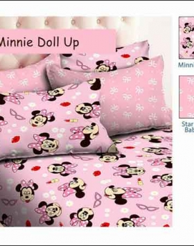 Sprei Bed Cover Star Minnie Doll Up