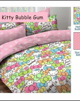 Sprei Star Collection Cipadu Hello Kitty Bubble Gum