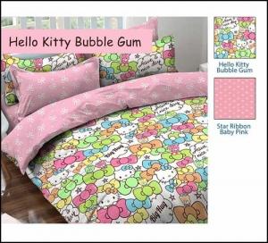 Sprei Star Collection Cipadu Hello Kitty Bubble Gum