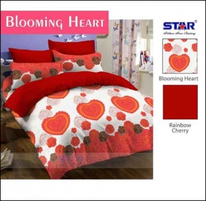 Bed Cover Murah Motif Terbaru Online Blooming Heart