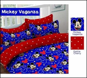 Distributor Sprei Katun Murah Mickey Vaganza Warna Biru