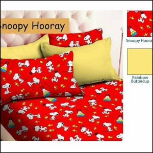 Sprei Murah Karakter Online Snoopy Hooray