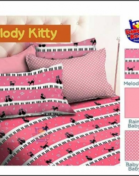 Sprei Bed Cover Star Lucu Cantik Melody Kitty Warna Pink