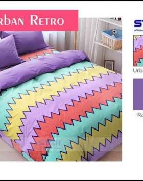 Bedcover murah Terbaru Urban Retro motif Zigzag
