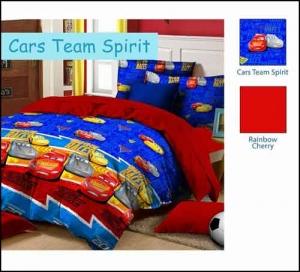 Jual Bed Cover Anak Murah Star Cars Team Spirit