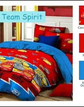 Jual BedCover Anak Murah Star Cars Team Spirit