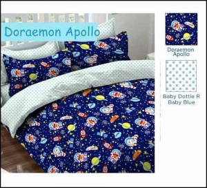 Sprei Bed Cover Star doraemon-apollo motif anak lucu
