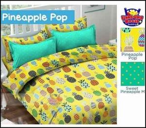 Bed Cover Star Motif Buah Nanas Pineapplepop Lucu
