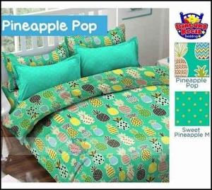 Bed Cover Star Motif Buah nanan Pineapplepop Lucu