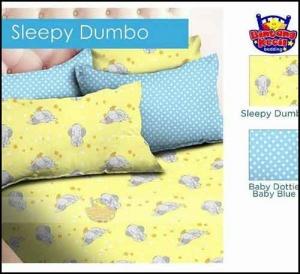 Grosir Bed Cover motif anak elegan Sleepy Dumbo warna Kuning