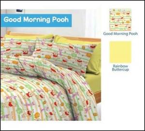 Jual Bedcover anak Lucu Good Morning Pooh Cipadu