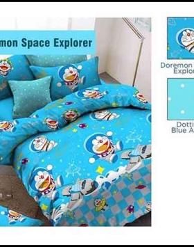 Sprei Dan Bedcover Doraemon Space Explorer