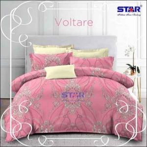 Sprei Katun Star Motif Batik Terbaru Voltare warna Pink