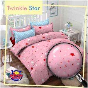 Sprei Katun Tanah Abang Murah Twinkle Star Warna Pink