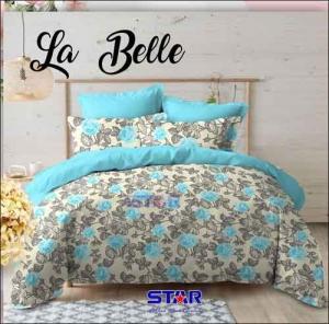 Bedcover Murah Tanah Abang La belle warna Tosca motif Bunga