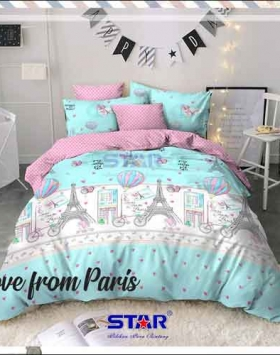Sprei Bedcover Star Love From Paris warna Tosca